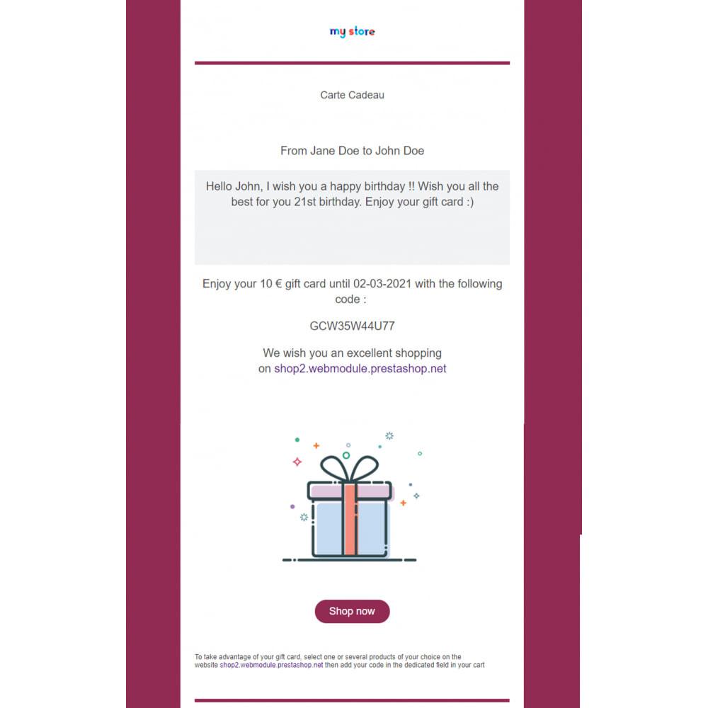module - Lista życzeń & Karta podarunkowa - Bon Podarunkowy Premium 1.6 - 1.7 - 2