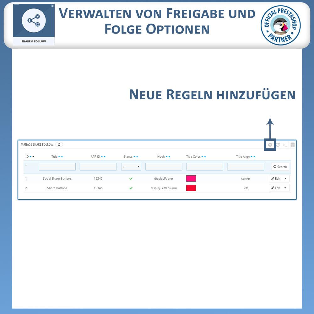 module - Teilen & Kommentieren - Teilen und folgen - Social Widget - 8