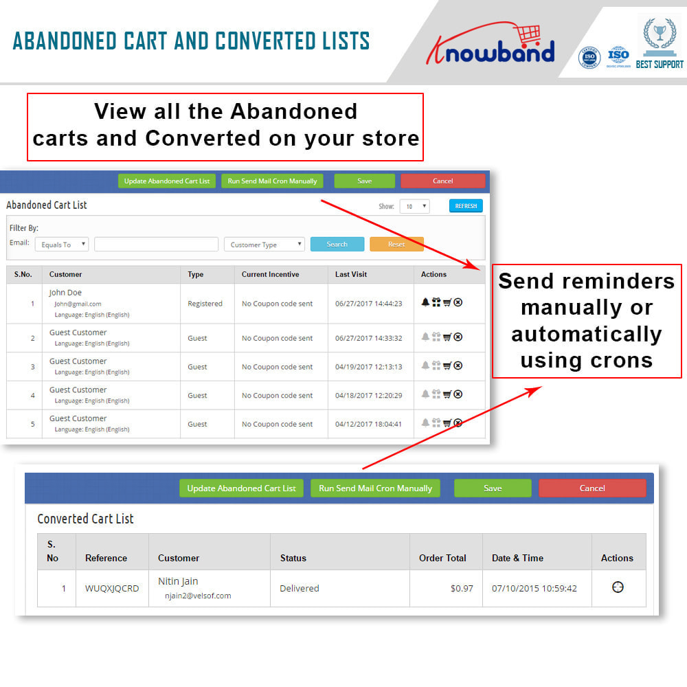 module - Remarketing & Achtergelaten winkelmanden - Knowband - Abandoned Cart Serial Reminders (Smart) - 4