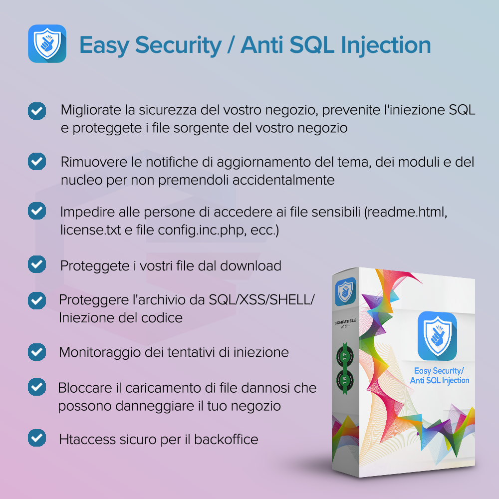 module - Security & Access - Sicurezza Semplice / Anti SQL Injection PRO - 1