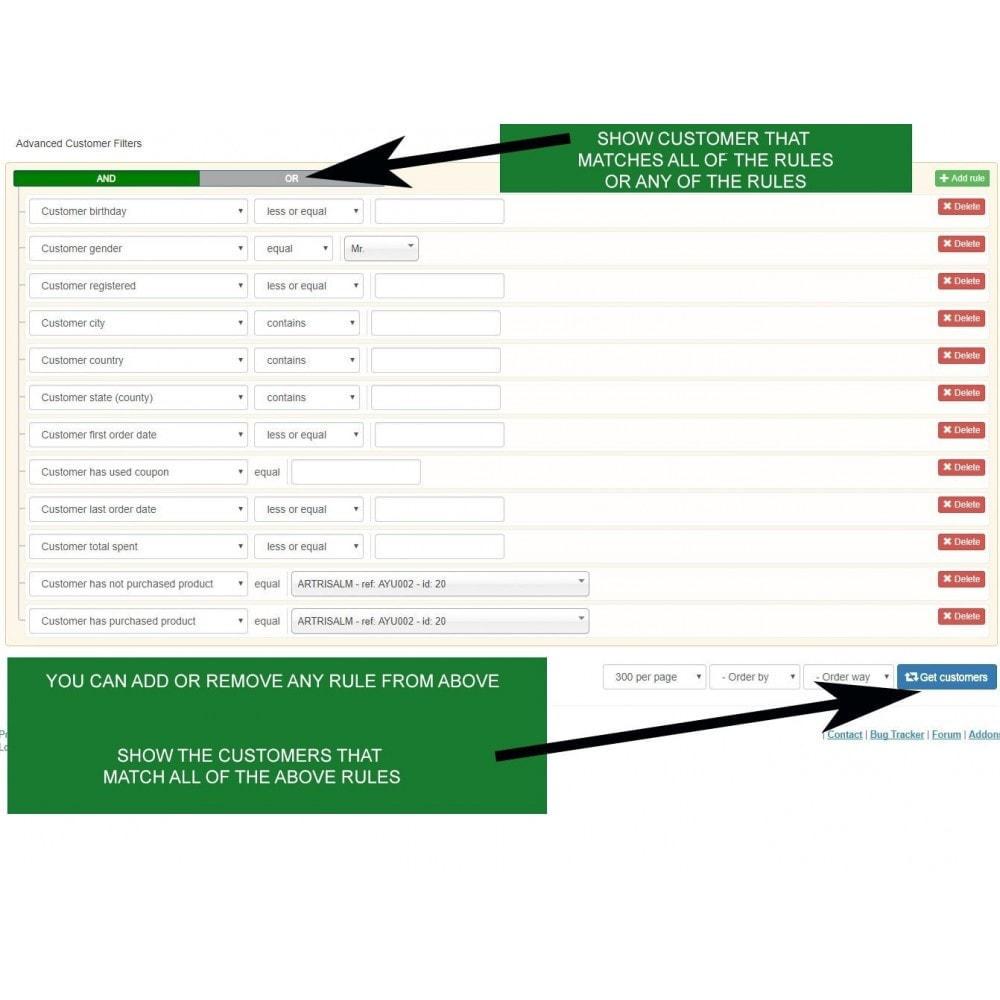 module - Gestion des clients - Rapports de vente, statistiques et champs personnalisés - 3
