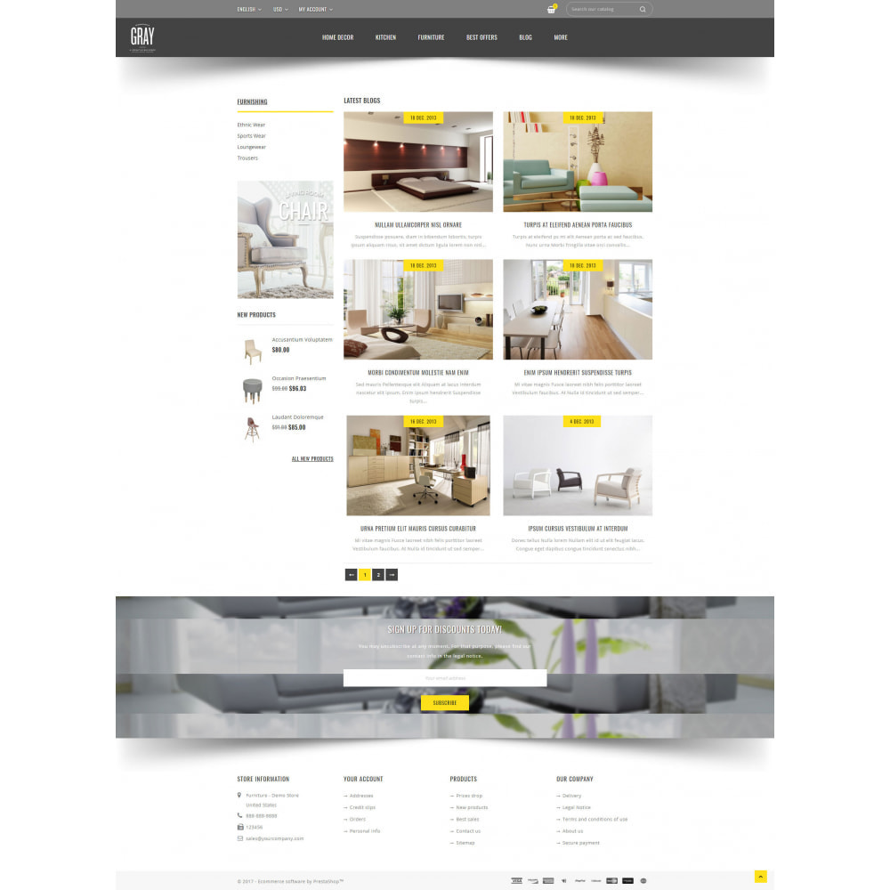 theme - Dom & Ogród - Gray Furniture Store - 9