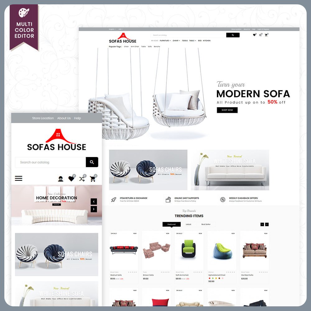 theme - Dom & Ogród - Sofa House – Furniture Mega Store - 1