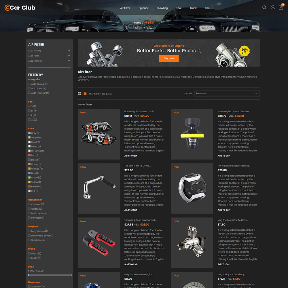 theme - Automotive & Cars - Carclub - Auto Tool Motor Spare Parts Store - 4