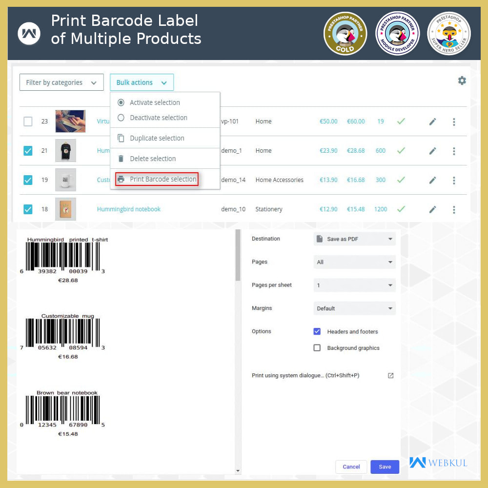 module - Preparation & Shipping - Product Barcode Label | Barcode Generator - 4