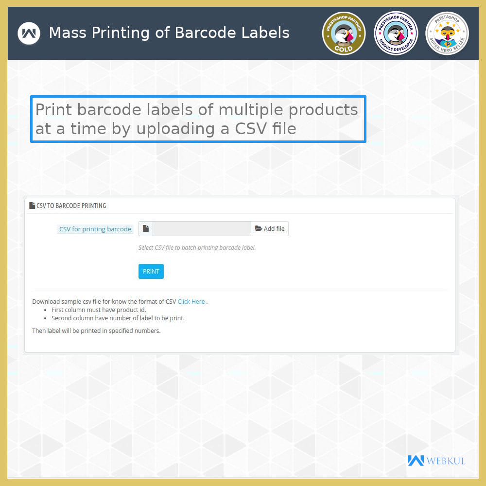 module - Preparation & Shipping - Product Barcode Label | Barcode Generator - 8