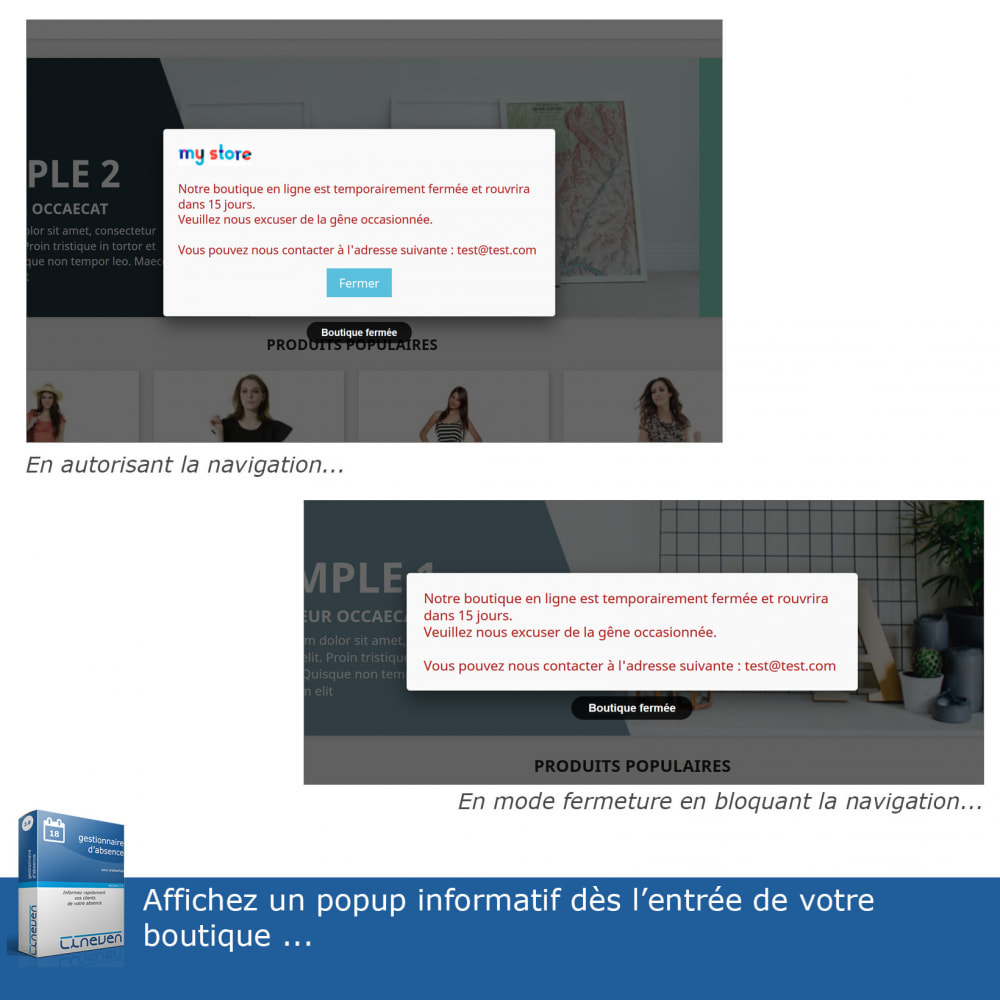module - Service Client - Gestionnaire d'absence - 3