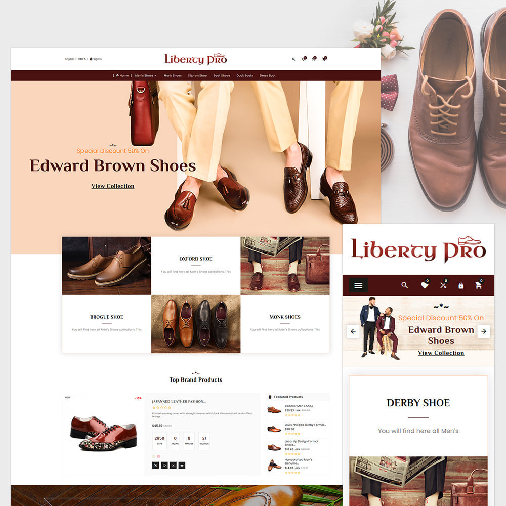 theme - Moda y Calzado - Liberty – Formal  Shoes Super Store - 1