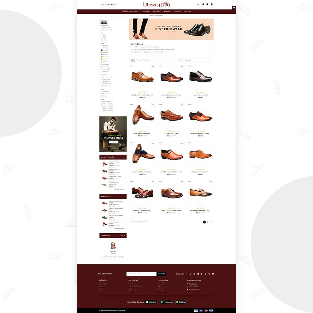theme - Moda y Calzado - Liberty – Formal  Shoes Super Store - 3