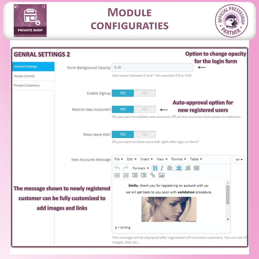 module - Uitverkoop & Besloten verkoop - Prive Winkel - Inloggen om producten te zien/Winkel - 13