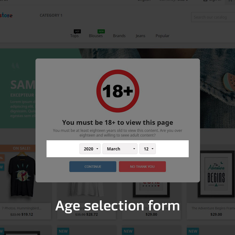 module - Security & Access - AN Age Verification Popup - 3