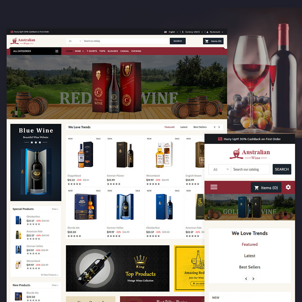theme - Drink & Tobacco - Australian - The Wine Shop - 1