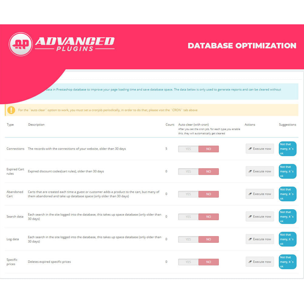 module - Desempenho do Site - Catalog and Database - Super Optimization - 2