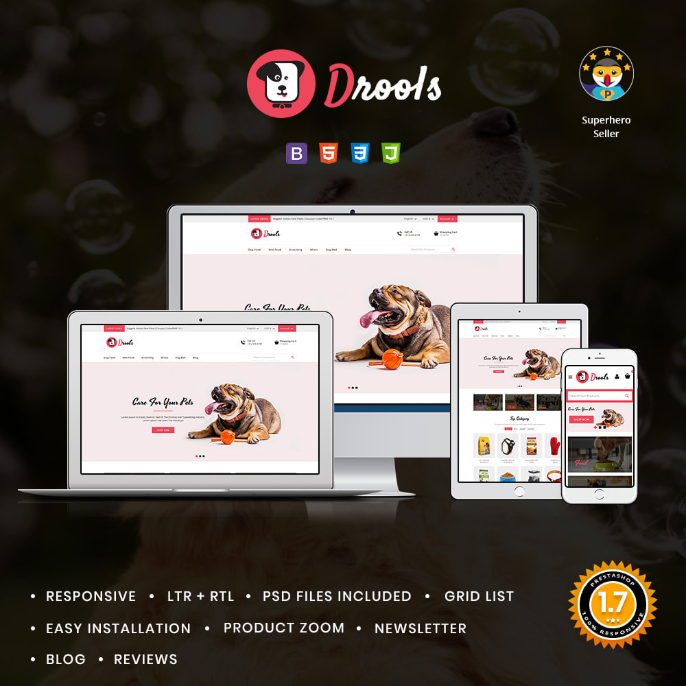 theme - Animals & Pets - Drools Animals & Pet Store - 1