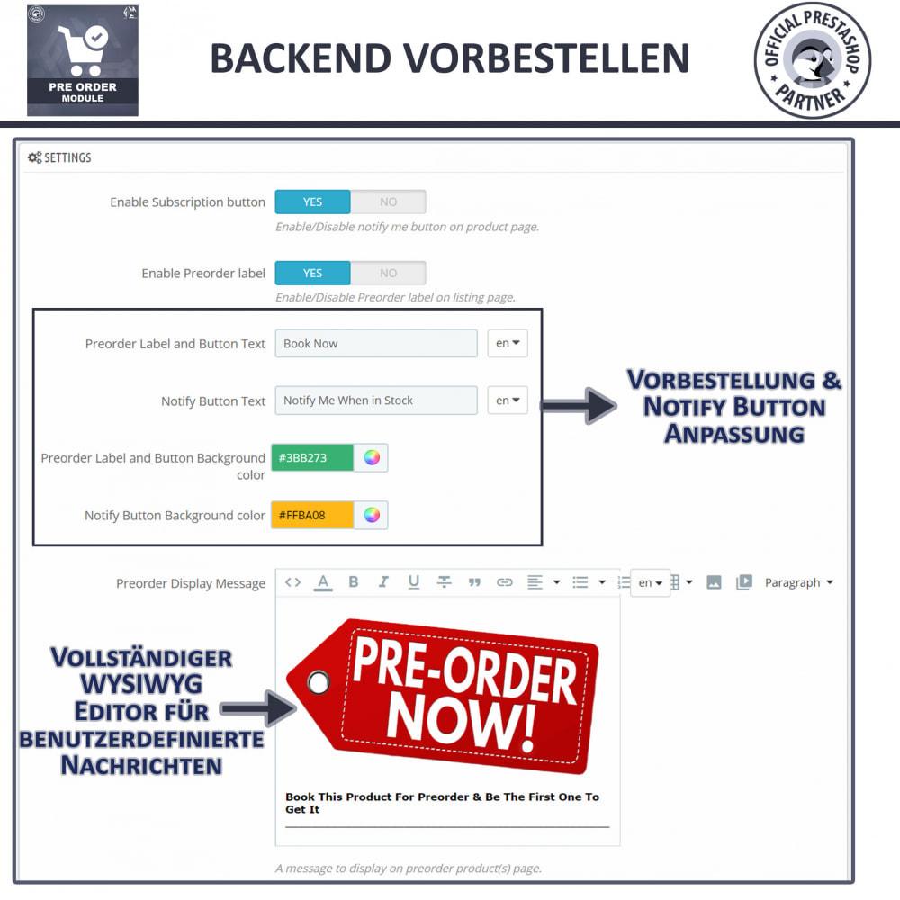 module - Anmeldung und Bestellvorgang - Vorbestellung und Lagerbenachrichtigung - 10