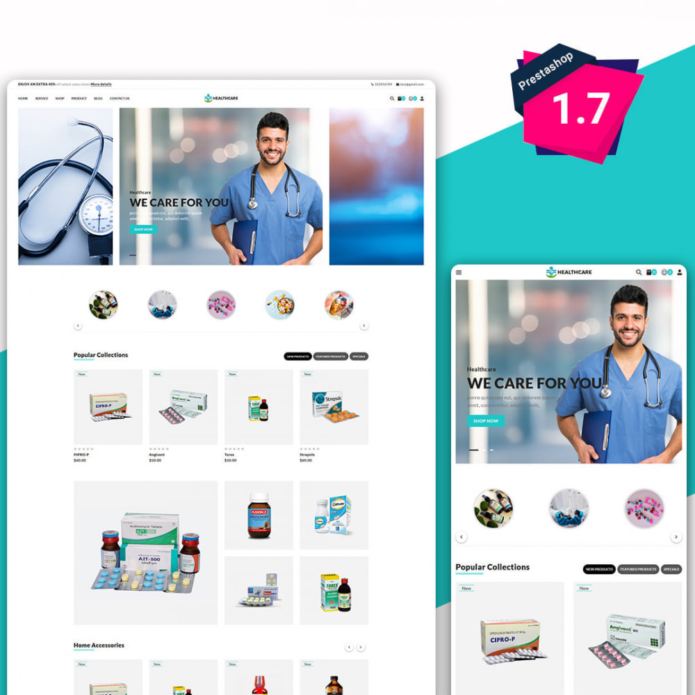 theme - Saúde & Beleza - Healthcare - The Medicine & Health Accessories Store - 1