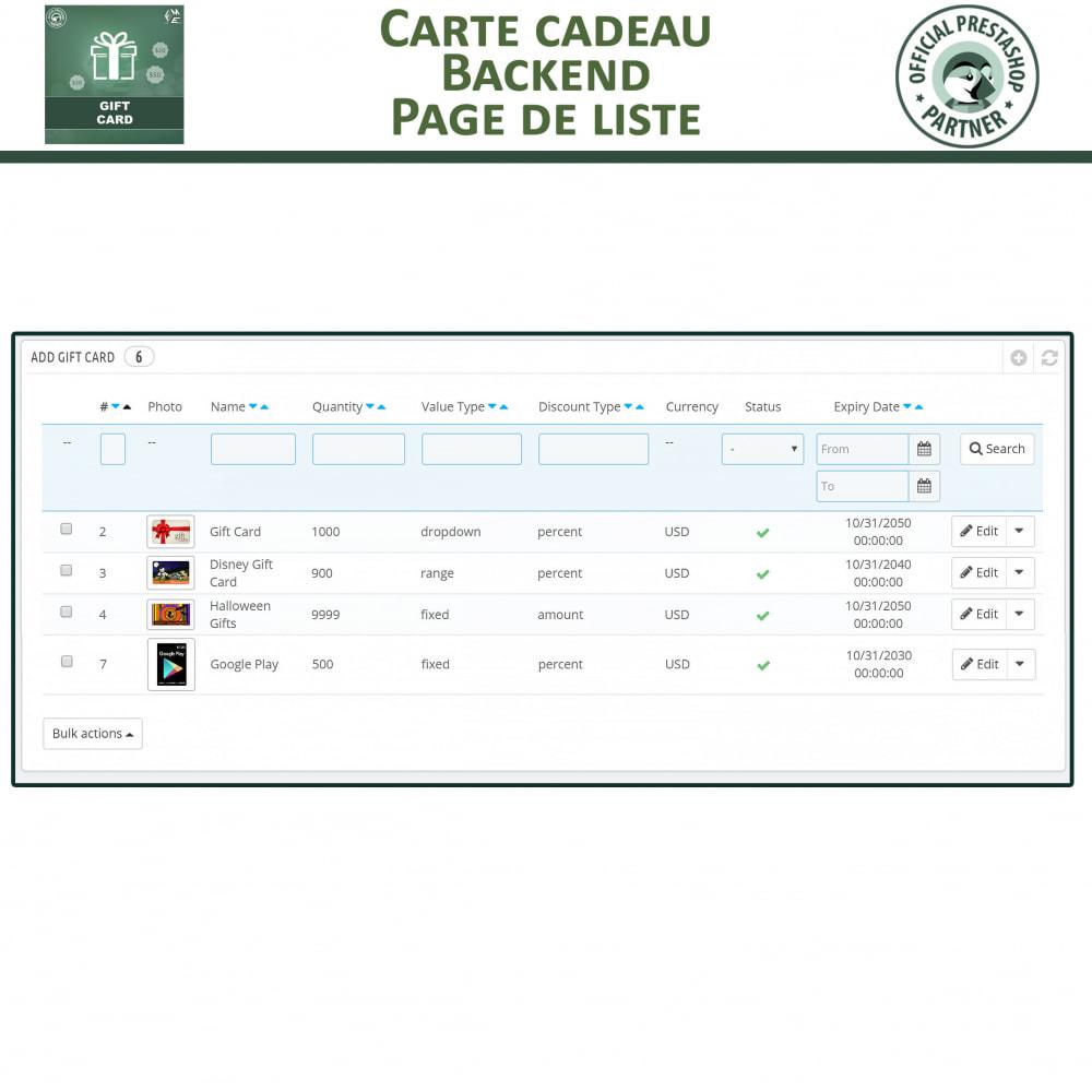module - Liste de souhaits & Carte cadeau - Carte Cadeau - 10