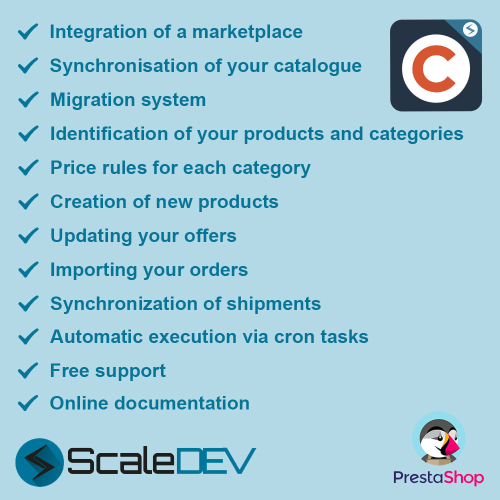 module - Marketplace - Cdiscount - Synchronization to the marketplace - 1