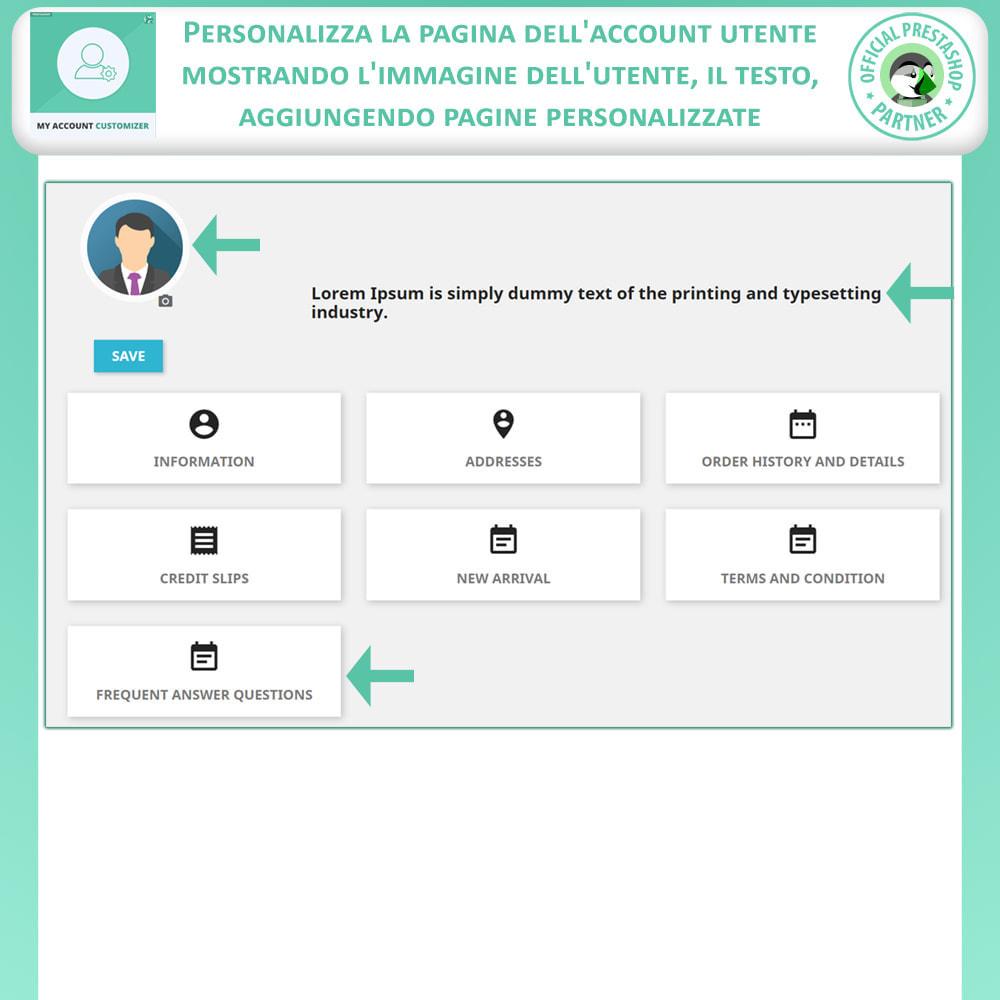 module - Amministrazione - Il Mio Account Customizer - 5