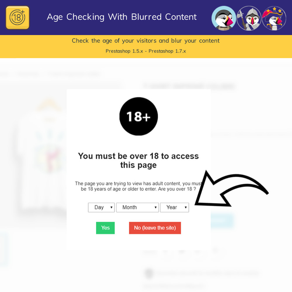 module - Security & Access - Age Checking For Regulated Content - Blur Content Pro - 3