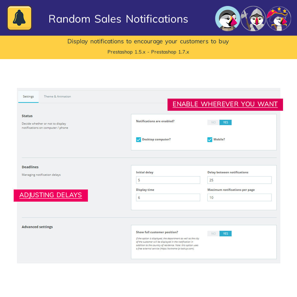 module - Notifications & Automatic Emails - Random sales notifications - 3