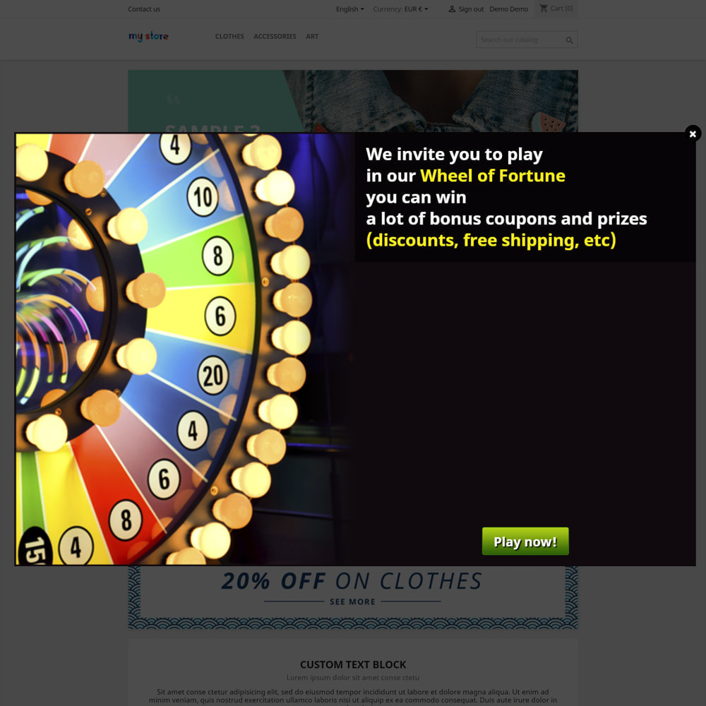 module - Wedstrijden - Wheel of Fortune, discounts and gifts to customers - 2