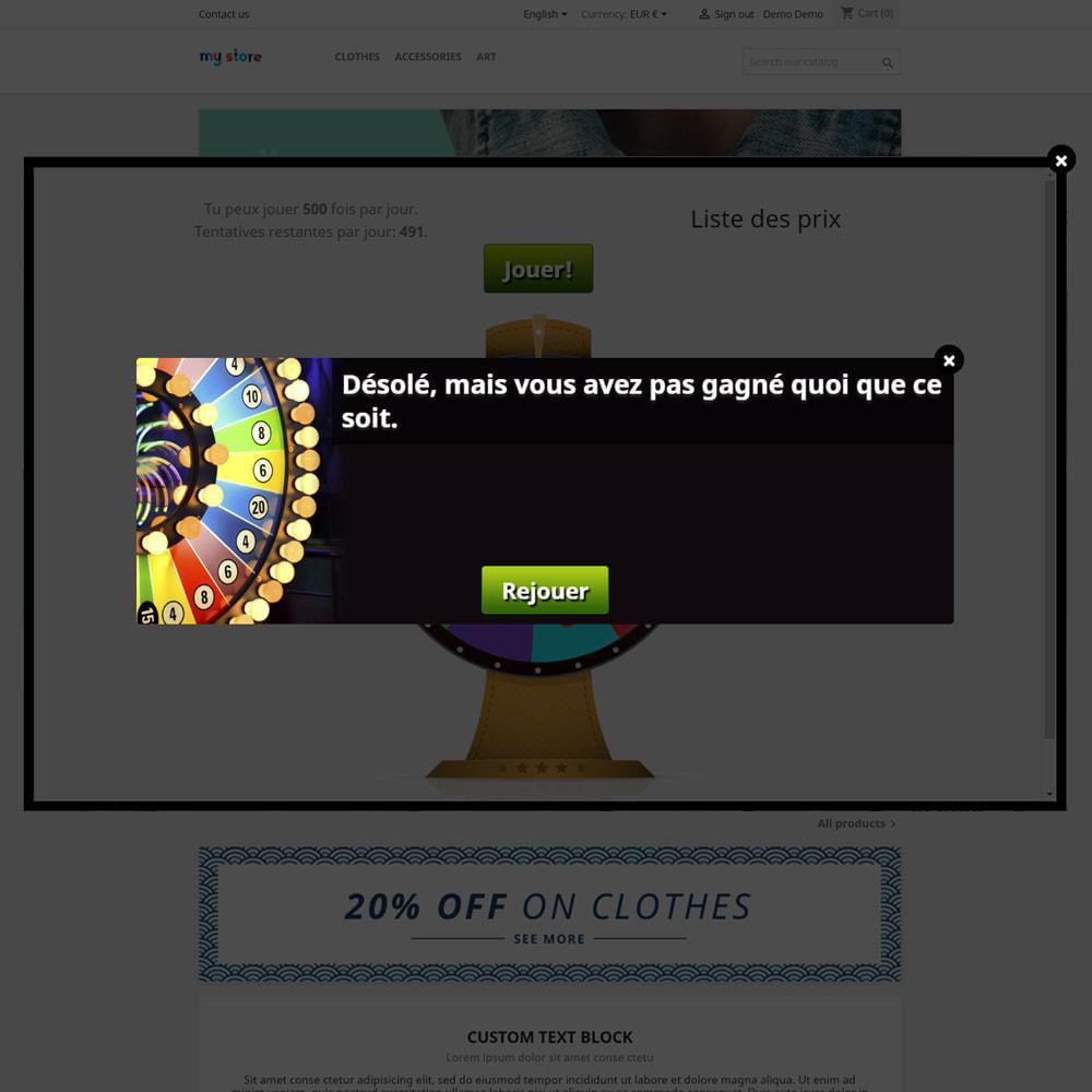 module - Jeux-concours - Roue de la Fortune, remises et cadeaux aux clients - 6