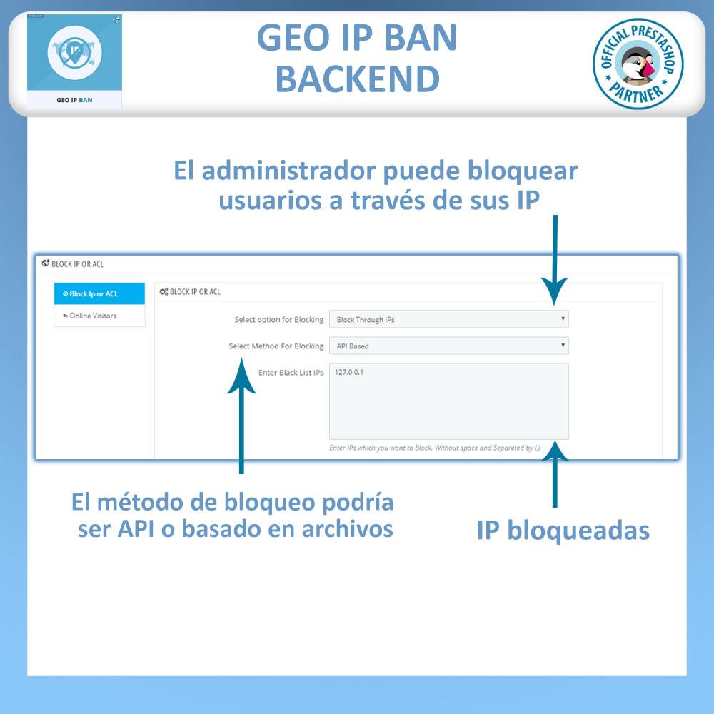 module - Seguridad y Accesos - GEO IP, Bloquear bots y usuarios basado en el IP o país - 1