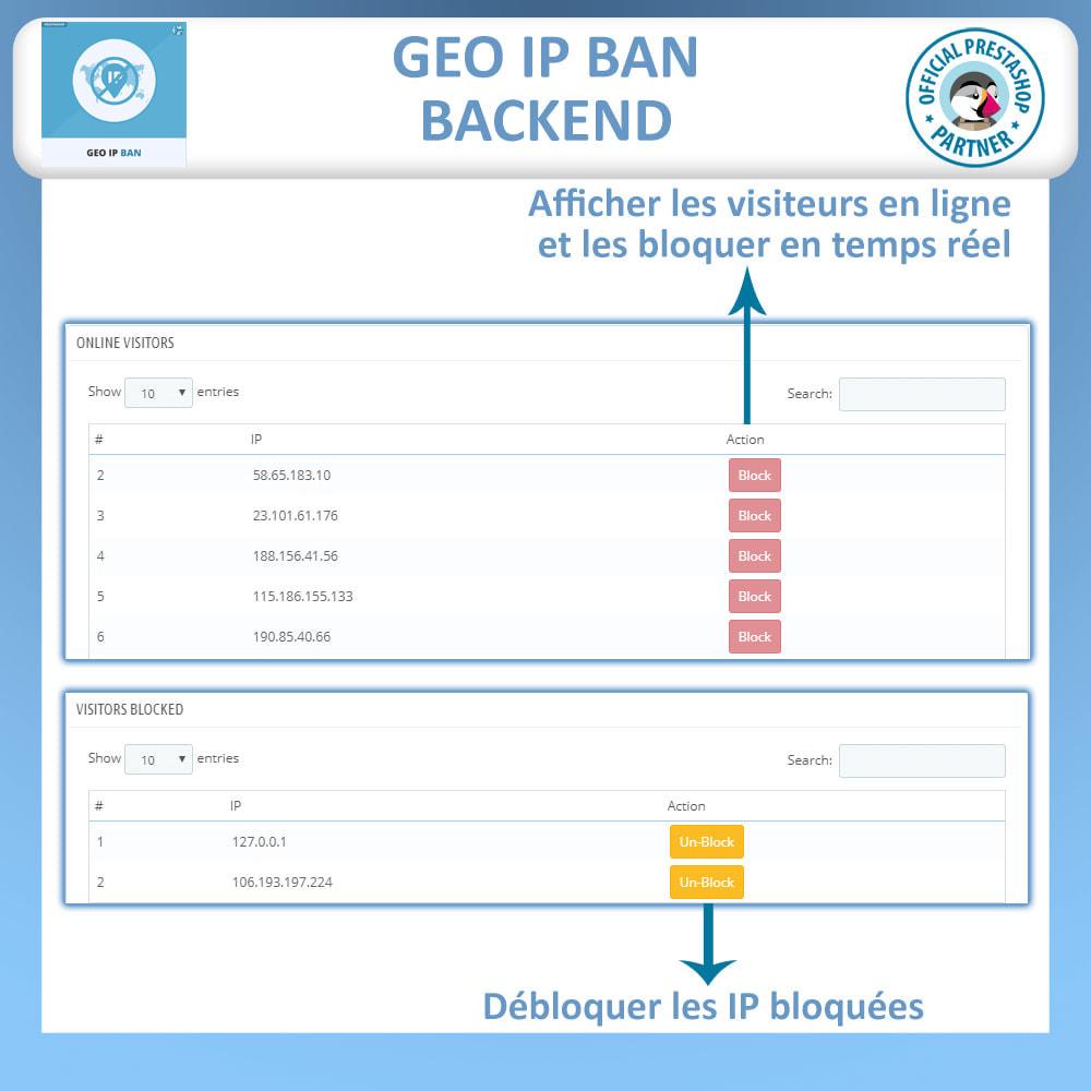 module - Sécurité & Accès - Bloquer les Bots et les Utilisateurs par IP ou pays - 4
