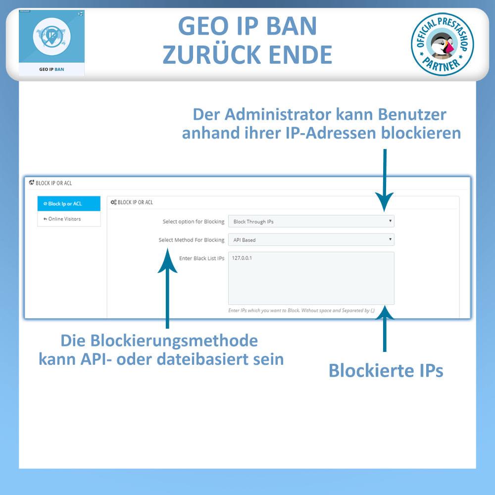 module - Sicherheit & Berechtigungen - Blockieren Sie Bots & Nutzer basierend auf IP oder Land - 1