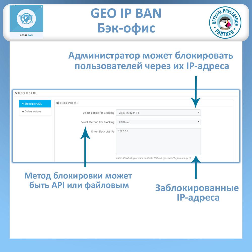 module - Безопасности и доступа - Блочные боты и пользователи на основе IP или страны - 1