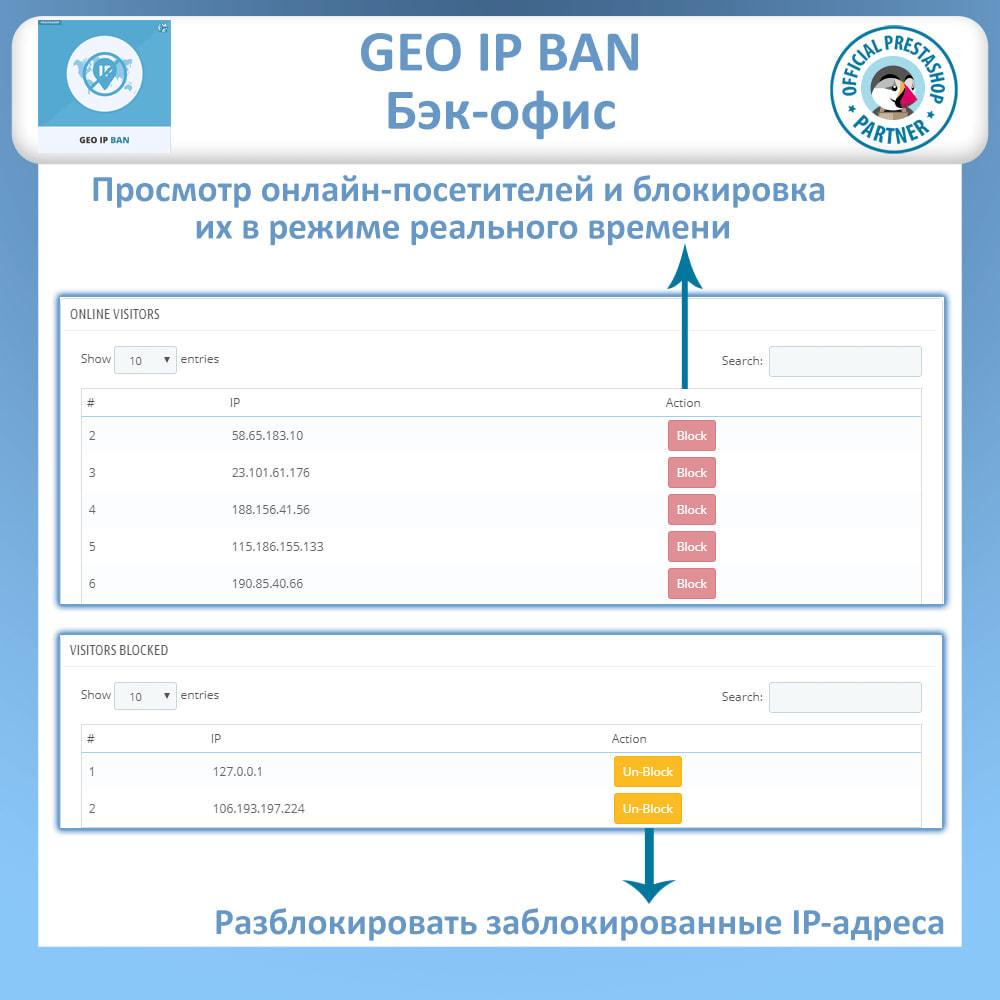 module - Безопасности и доступа - Блочные боты и пользователи на основе IP или страны - 4