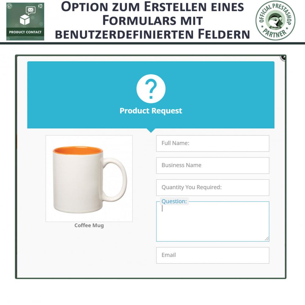module - Kontaktformular & Umfragen - Produkt Kontakt - Anfrageformular - 5