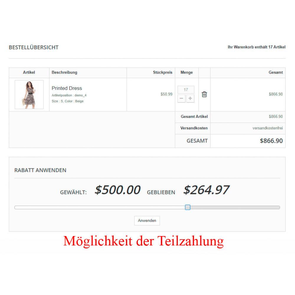 module - Zahlung per Kreditkarte oder Wallet - Interner Benutzerbilanz UserBalance - 14