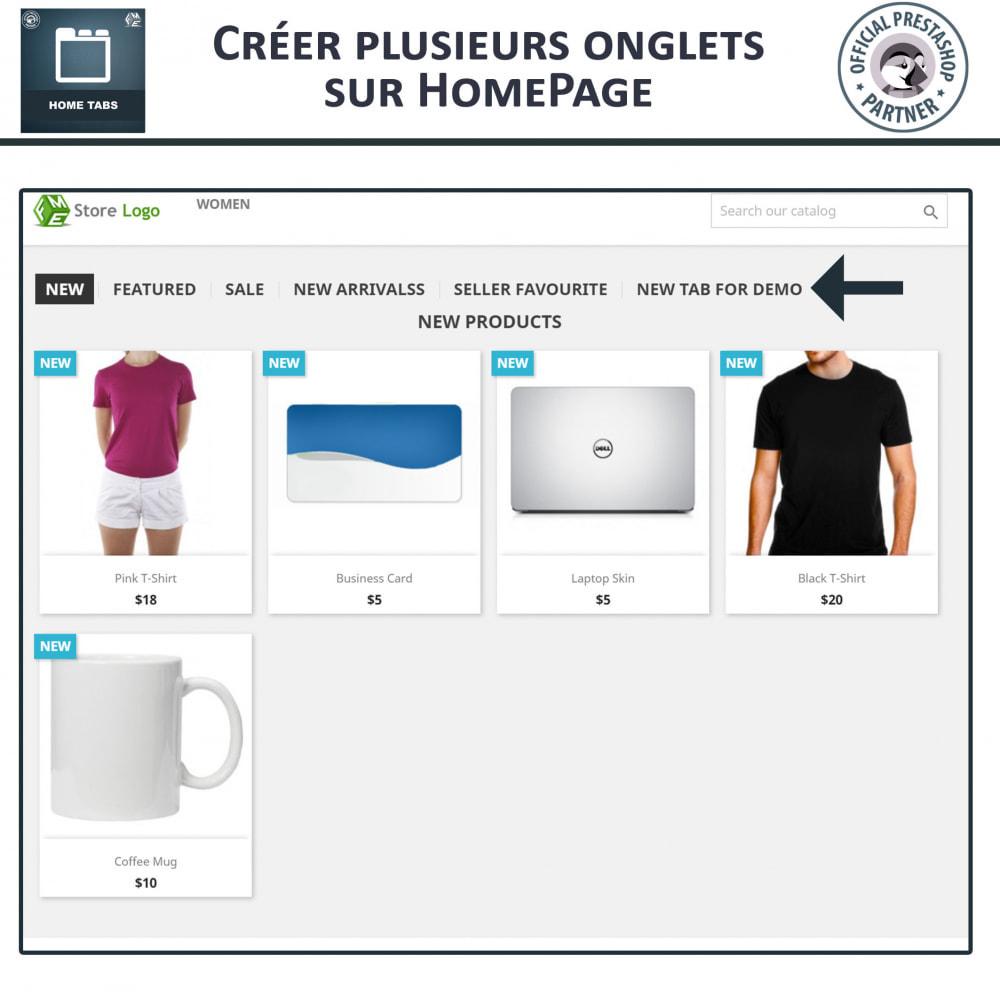 module - Blocs, Onglets & Bannières - Onglets d'accueil - 2