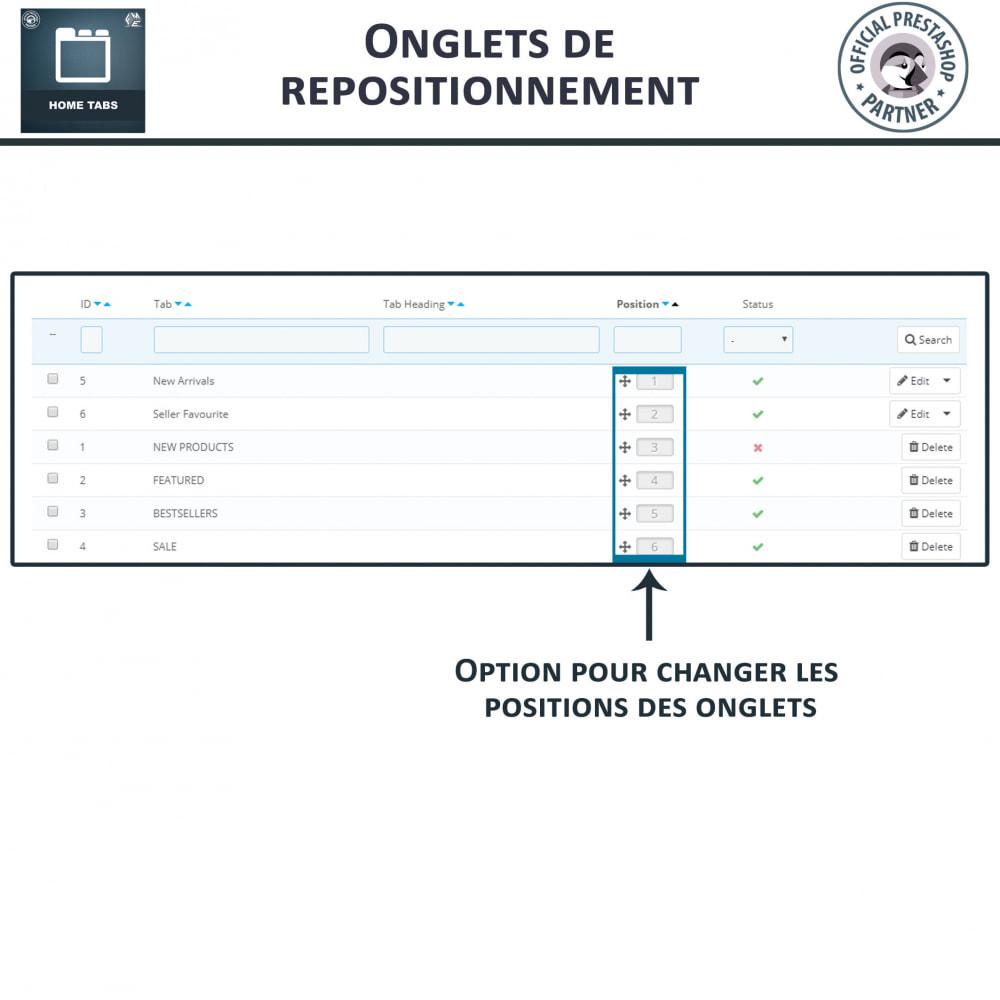 module - Blocs, Onglets & Bannières - Onglets d'accueil - 7