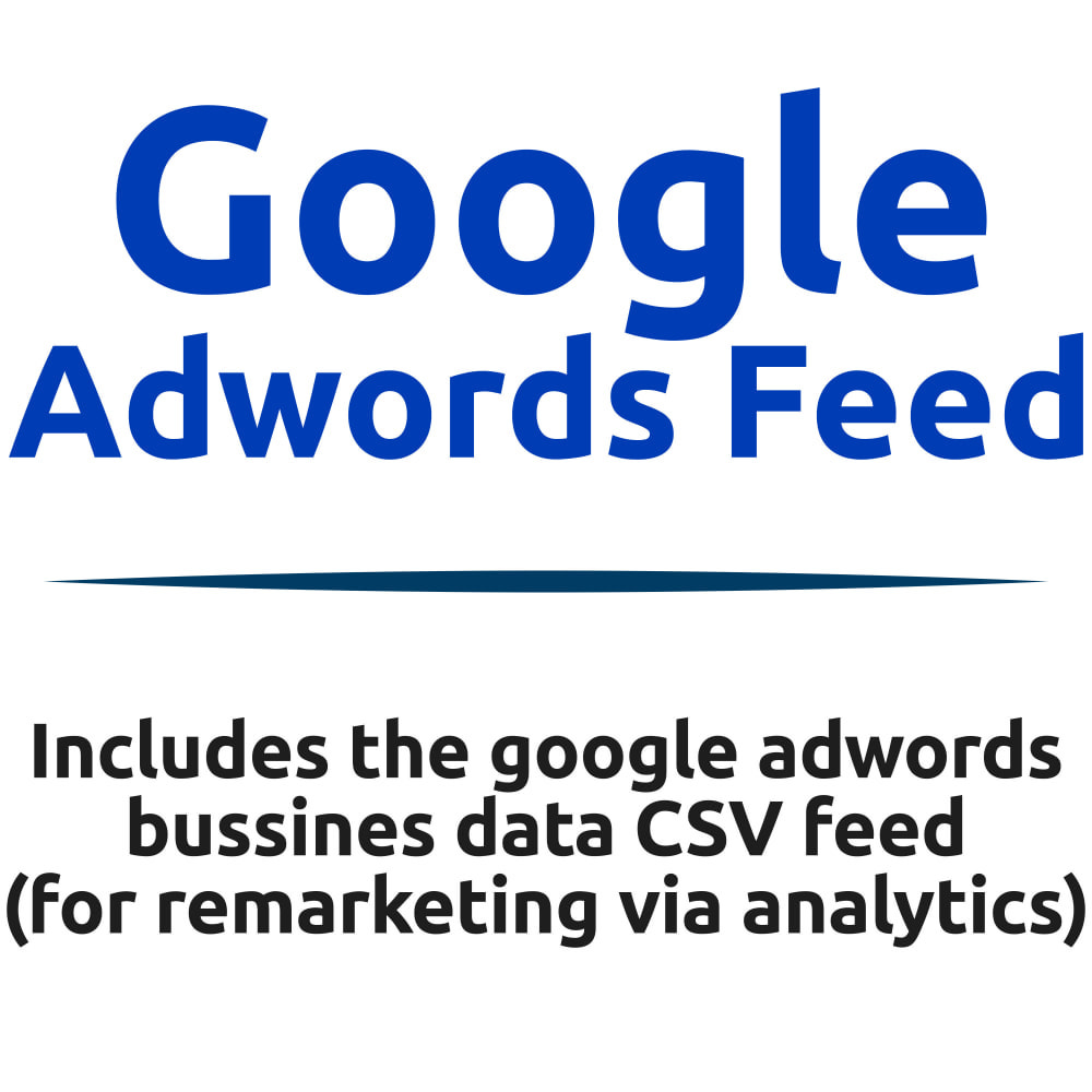 module - SEA SEM (Bezahlte Werbung) & Affiliate Plattformen - Google Adwords Business Data CSV Feed - 1