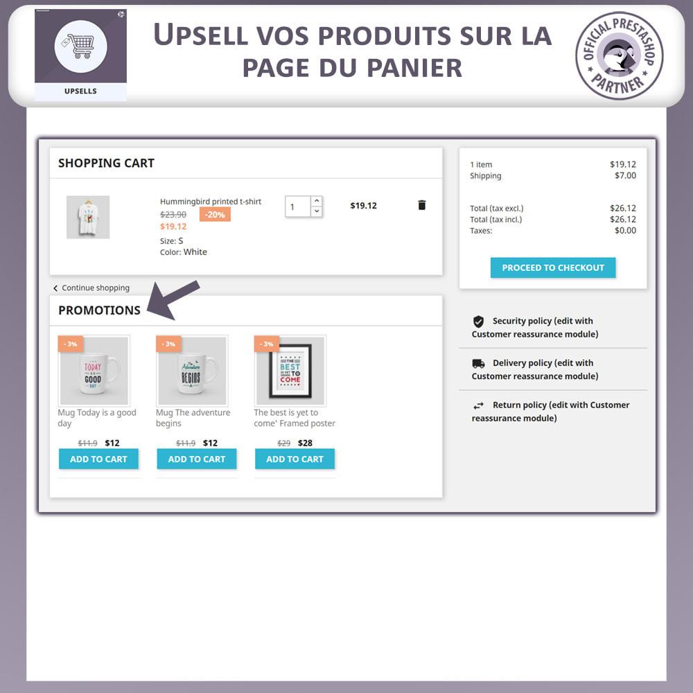 module - Ventes croisées & Packs de produits - Produits Incitatifs - Chariot à Pousser - 7