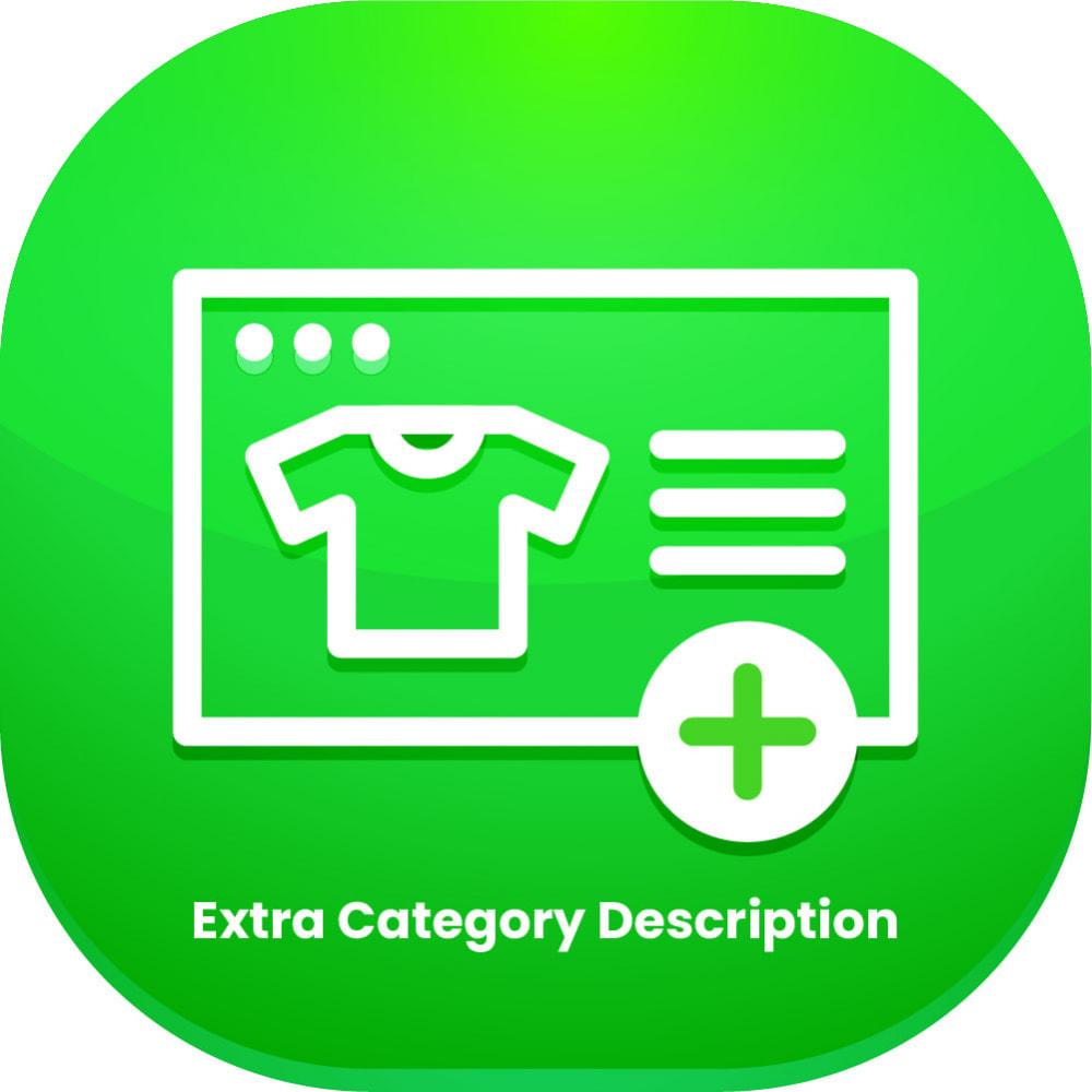 module - Dodatkowe informacje & Zakładka produktu - Extra Category Description - 1