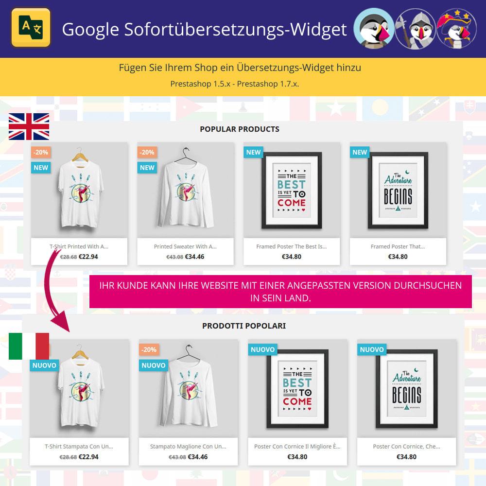 module - Internationalisierung & Lokalisierung - Sofort-Google-Übersetzungs-Widget - 1