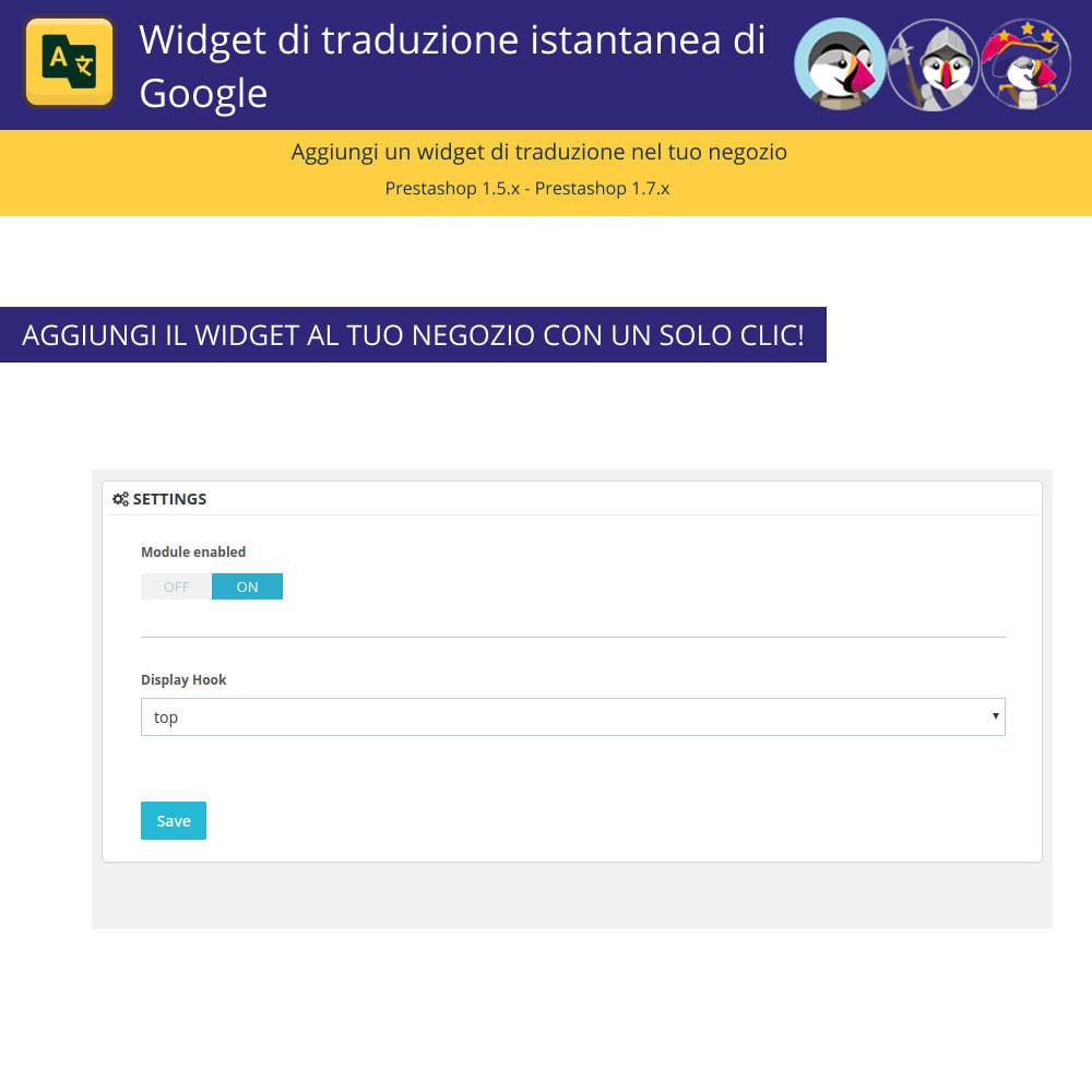 module - Lingue & Traduzioni - Widget di traduzione istantanea di Google - 2