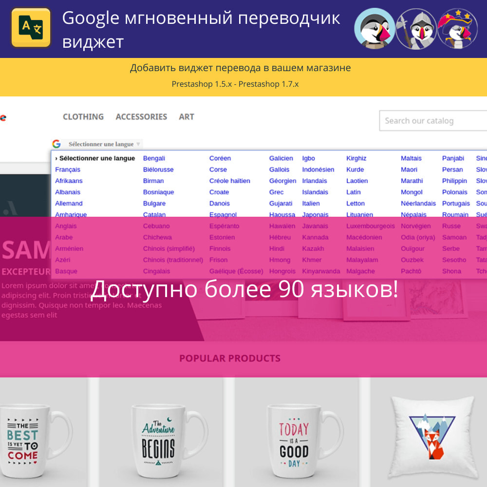module - Международный рынок и геолокация - Мгновенный виджет перевода Google - 3
