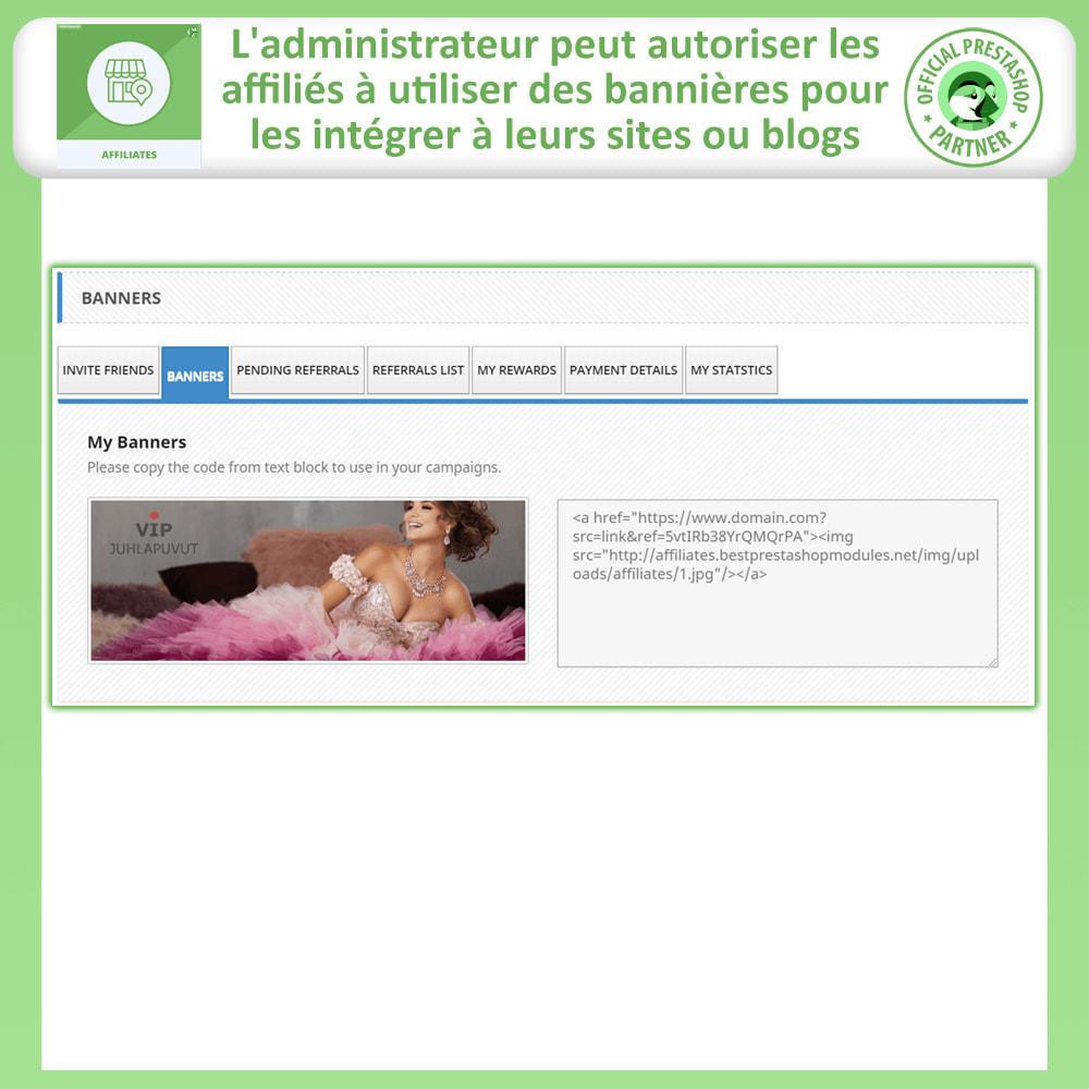 module - Référencement payant (SEA SEM) & Affiliation - Programme d'affiliation et de parrainage - 5
