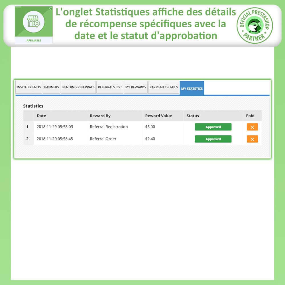 module - Référencement payant (SEA SEM) & Affiliation - Affiliés, Gestion de programme d'affiliation anticipée - 9