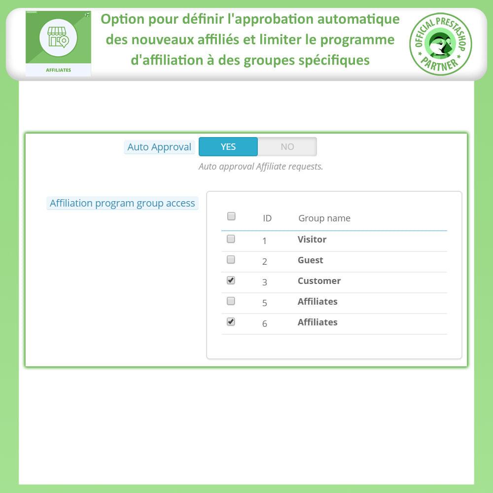 module - Référencement payant (SEA SEM) & Affiliation - Affiliés, Gestion de programme d'affiliation anticipée - 13