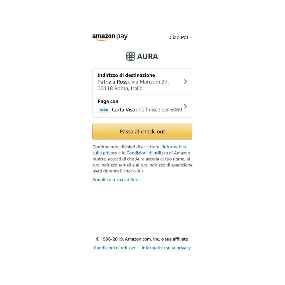 module - Pagamento con Carta di Credito o Wallet - Amazon Pay (Checkout v2) - 3