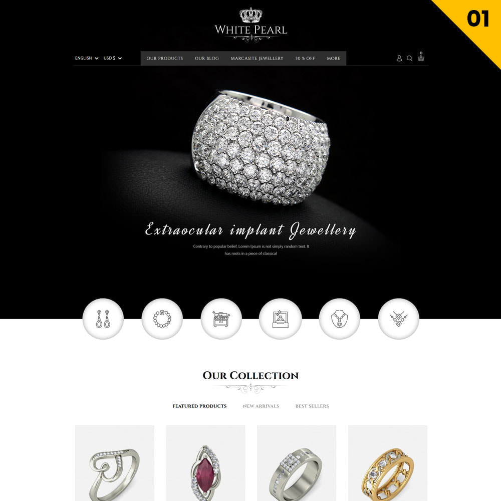 theme - Joyas y Accesorios - Whitepearl - La tienda de joyas - 3