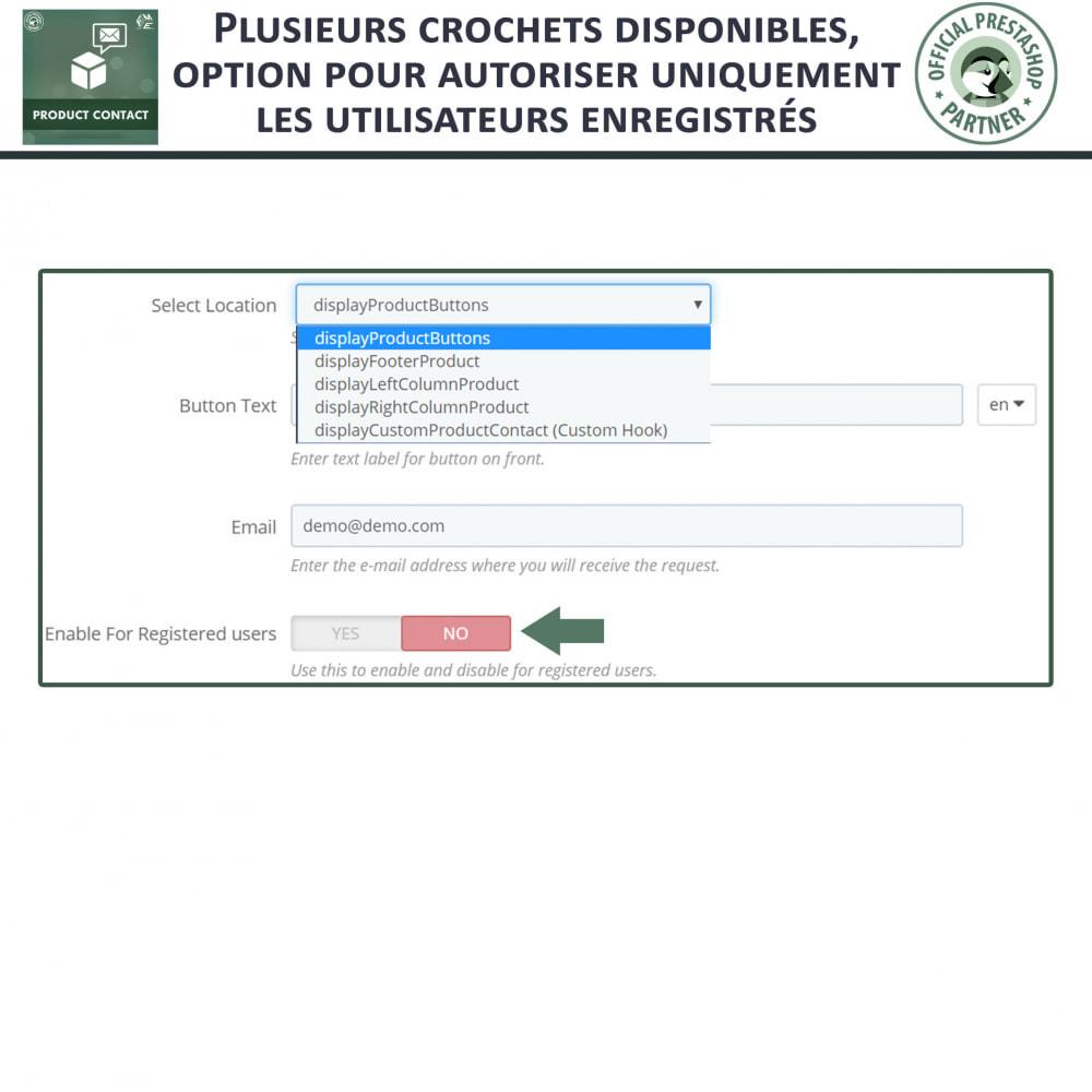 module - Formulaires de Contact & Sondages - Contact du produit  - Formulaire de Demande - 8