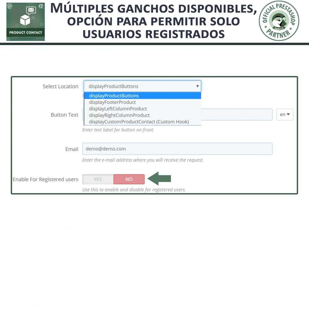 module - Formulario de contacto y Sondeos - Contacto del producto - Formulario de solicitud - 6