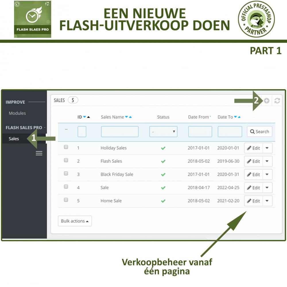 module - Uitverkoop & Besloten verkoop - Flash Sales Pro - Korting met een Aftel Timer - 9